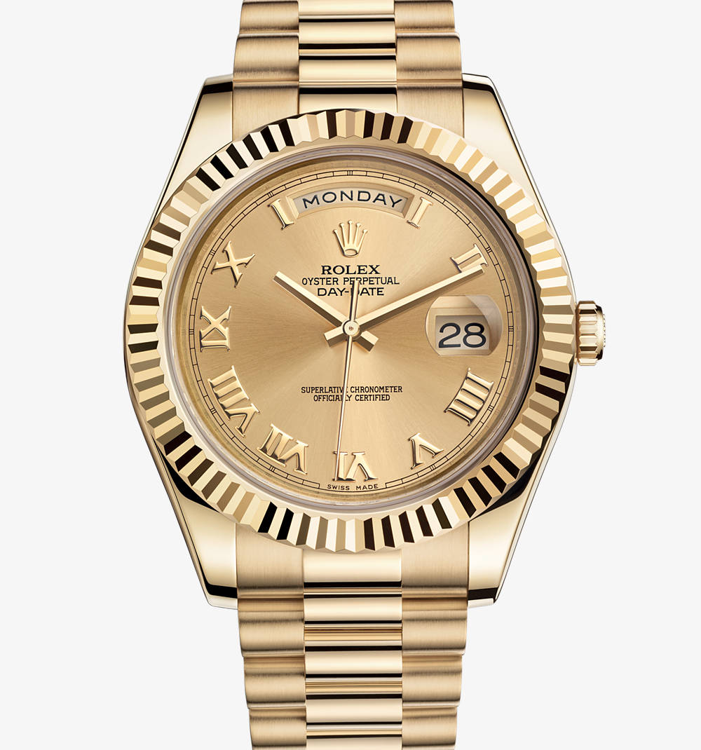 Rolex Day-Date II Champagne Dial 18K Yellow Gold President Automatic ...